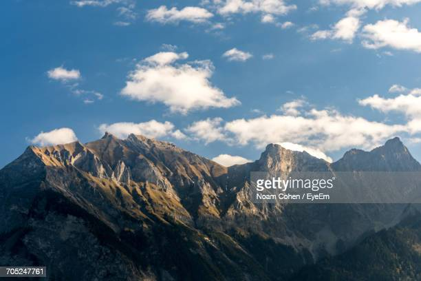 scenic view of mountains - bad ragaz stock pictures, royalty-free photos & images