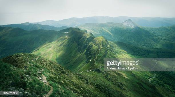 scenic view of mountains - cantal stock pictures, royalty-free photos & images