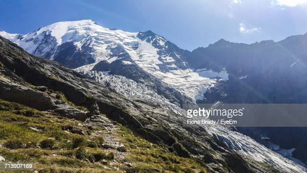scenic view of mountains - sallanches stock pictures, royalty-free photos & images