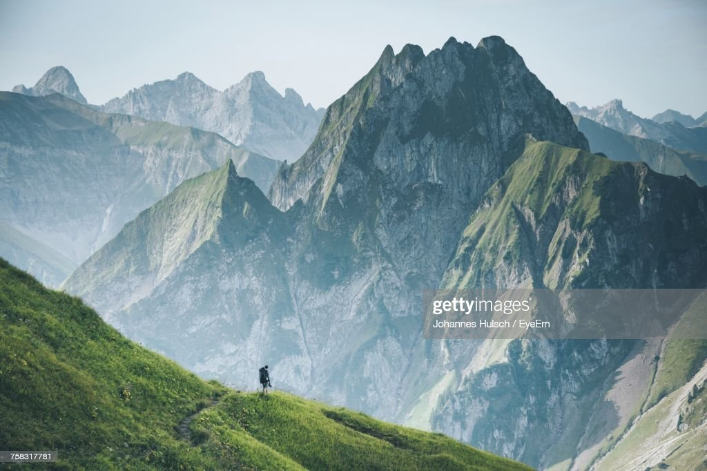 Scenic View Of Mountains : Stock Photo