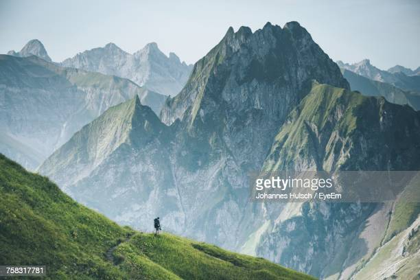 scenic view of mountains - travel destinations stock-fotos und bilder