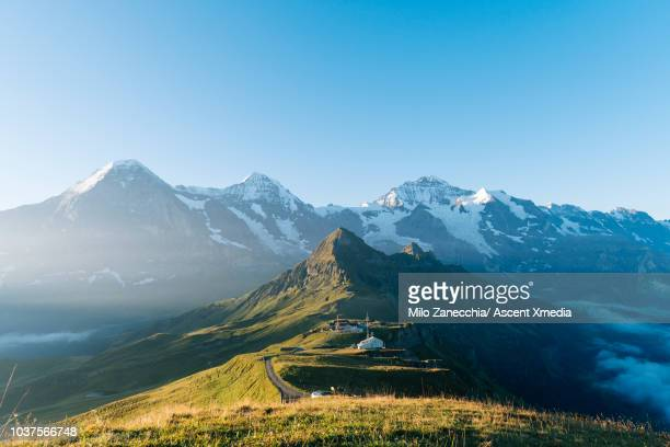 Scenic view of mountains, ridge crest and valleys