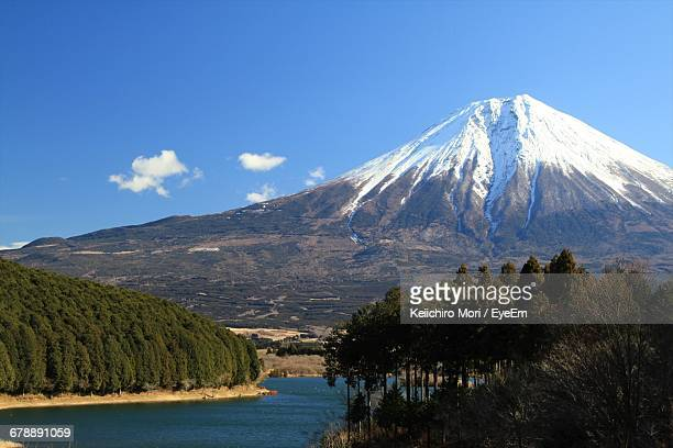Scenic View Of Mt Fuji Against Blue Sky