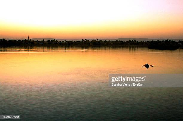 Scenic View Of Nile River Against Sky During Sunset