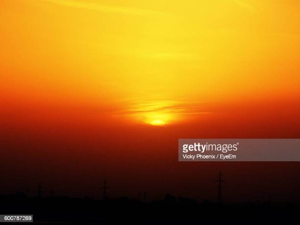Scenic View Of Orange Sunset Sky