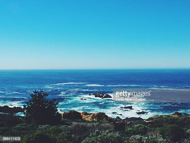 Scenic View Of Pacific Ocean Against Clear Sky