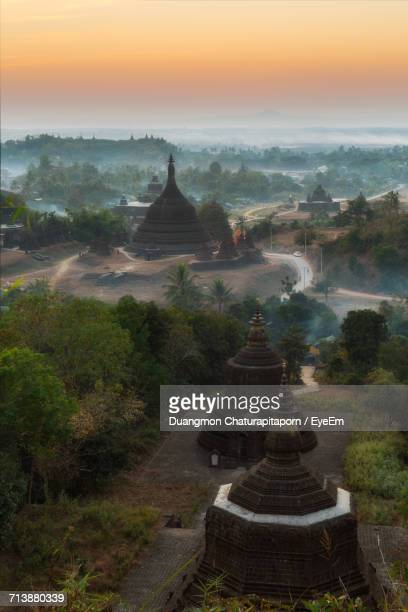 Scenic View Of Pagodas During Sunset