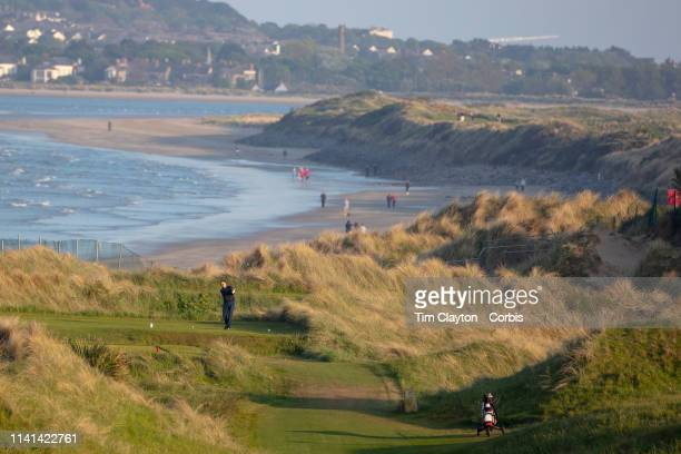 A scenic view of Portmarnock Golf Club a links golf club in Portmarnock County Dublin Ireland located on the Portmarnock peninsula 15 minutes from...