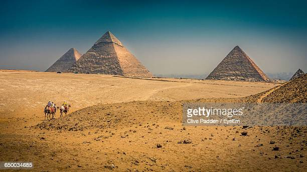Scenic View Of Pyramids Against Clear Sky