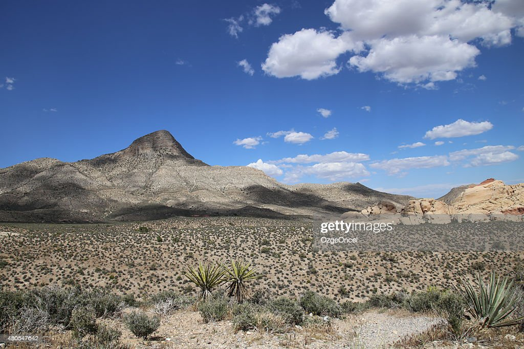 Paisagem vista de Red Rock Canyon, Las Vegas : Foto de stock