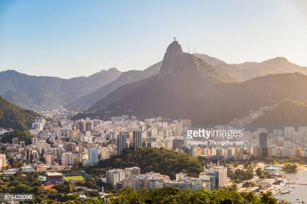 scenic view of rio de janeiro from pao de acucar mountain, brazil - brazil stock pictures, royalty-free photos & images