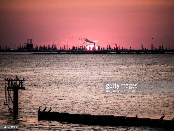 scenic view of river against sky during sunset - gulf coast states stock pictures, royalty-free photos & images