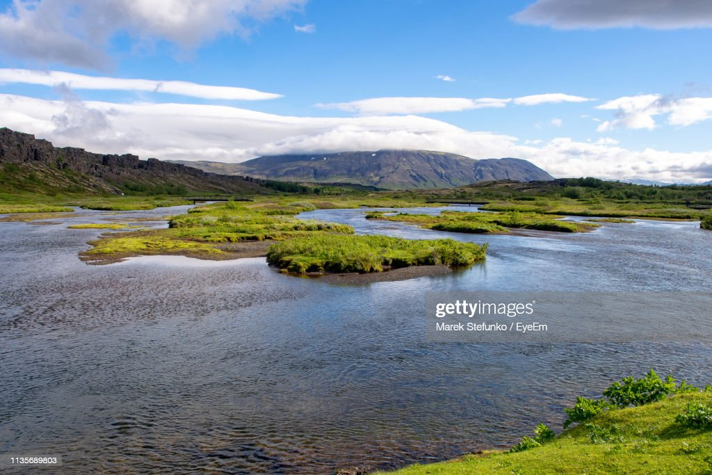 Scenic View Of River Against Sky : Stock Photo
