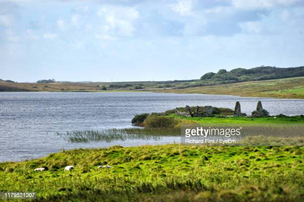 scenic view of river against sky - richard flint stock pictures, royalty-free photos & images