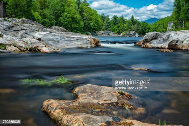 scenic view of river against sky - manchester new hampshire stock pictures, royalty-free photos & images