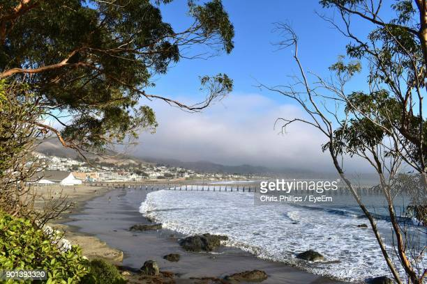 scenic view of river against sky - cayucos stock pictures, royalty-free photos & images
