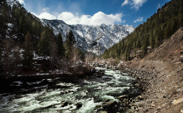 Scenic view of river amidst mountains against sky,Leavenworth,Washington,United States,USA