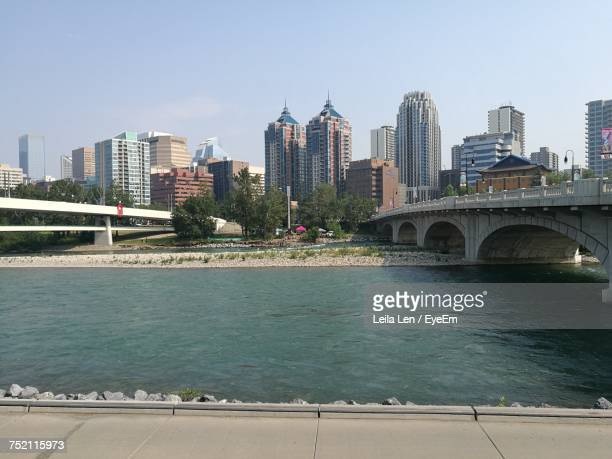 Scenic View Of River And Cityscape Against Clear Sky