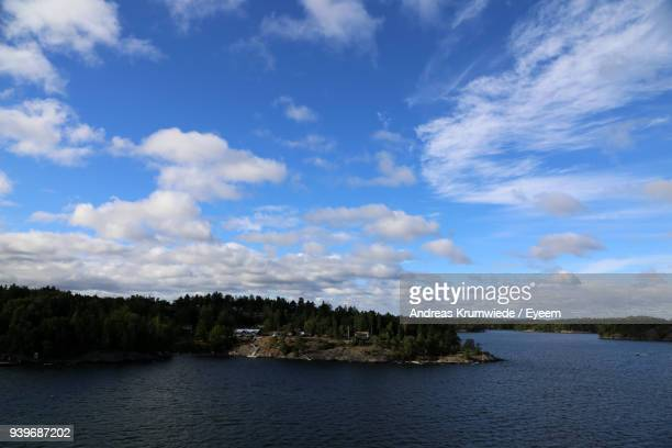Scenic View Of River And Landscape Against Sky