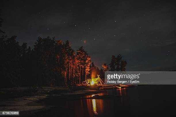 Scenic View Of River At Night