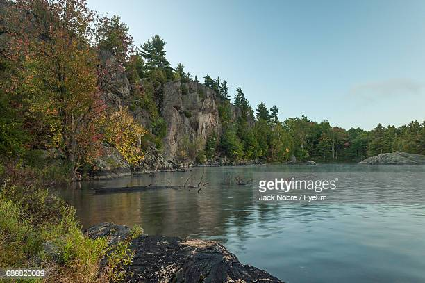 Scenic View Of River Surrounded By Trees Against Sky