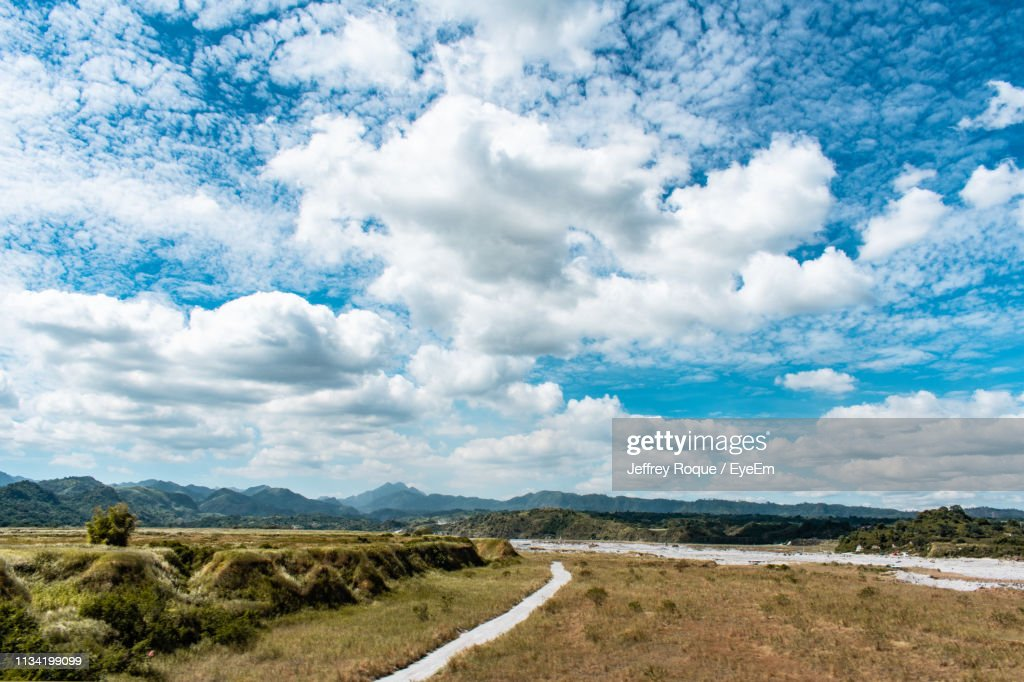 Scenic View Of Road Against Sky : Stock Photo