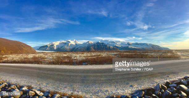 Scenic view of road and mountain