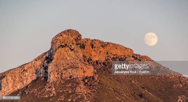 Scenic View Of Rock Formation Against Clear Sky