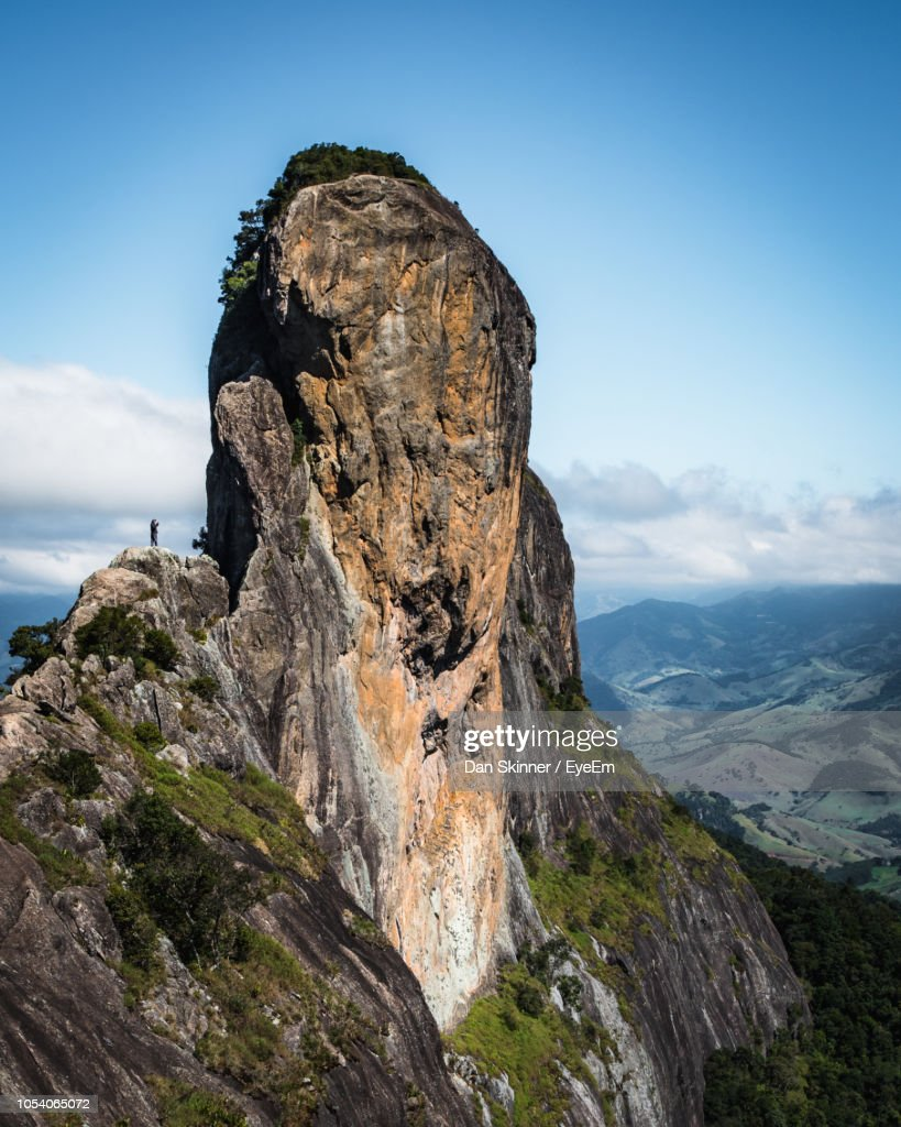 Scenic View Of Rock Formation Against Sky : Stock Photo