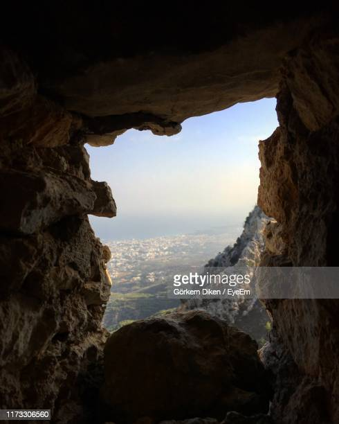 scenic view of rock formation against sky - cyprus island stock pictures, royalty-free photos & images