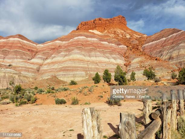 scenic view of rock formations against sky - paria canyon stock pictures, royalty-free photos & images