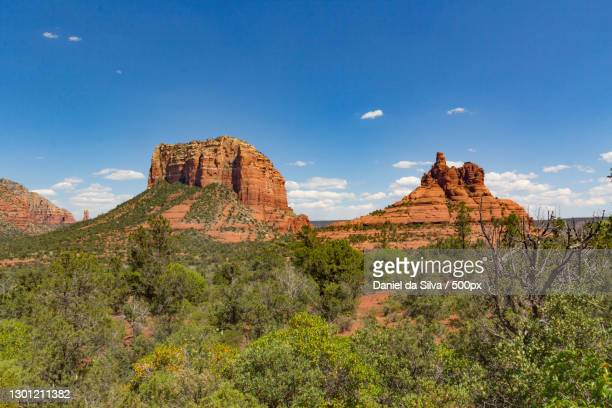 scenic view of rock formations against sky,red rock canyon national conservation area,united states,red rock canyon,usa - nevada stock pictures, royalty-free photos & images