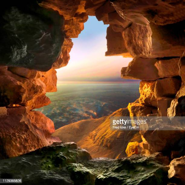Scenic View Of Rock Formations In Cave
