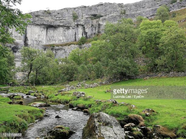 scenic view of rocks at malham cove - lucinda lee stock pictures, royalty-free photos & images