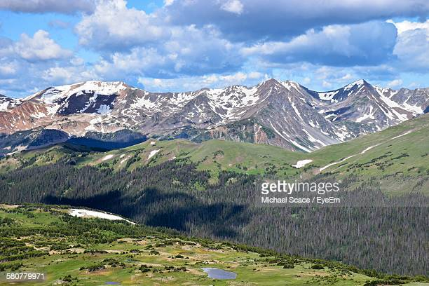 Scenic View Of Rocky Mountain National Park Against Sky