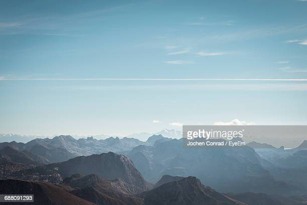 Scenic View Of Rocky Mountains Against Sky At Watzmann