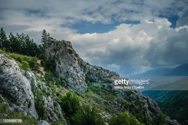 scenic view of rocky mountains against sky - serbia stock pictures, royalty-free photos & images