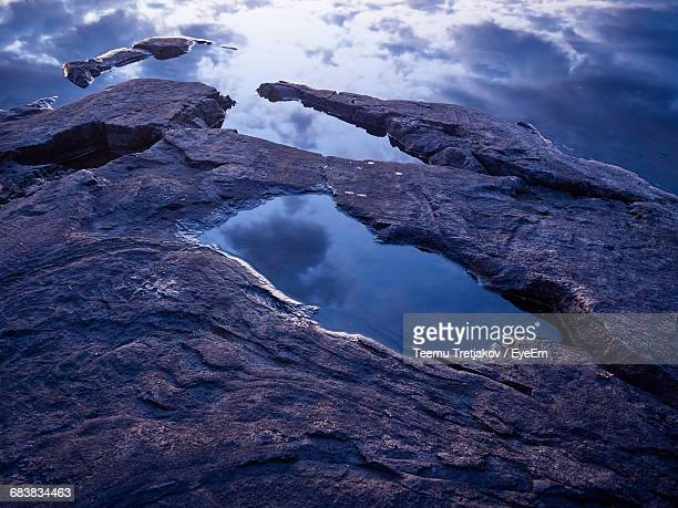 scenic view of rocky mountains against sky - teemu tretjakov stock pictures, royalty-free photos & images