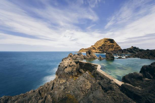 Scenic view of rocky seashore