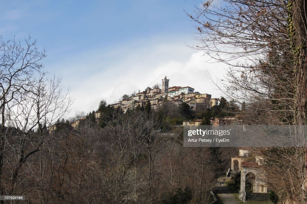 Scenic View Of Sacro Monte Di Varese Against The Sky Stock Photo ...