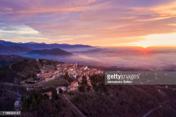 scenic view of sacro monte di varese, italy - varese stock pictures, royalty-free photos & images