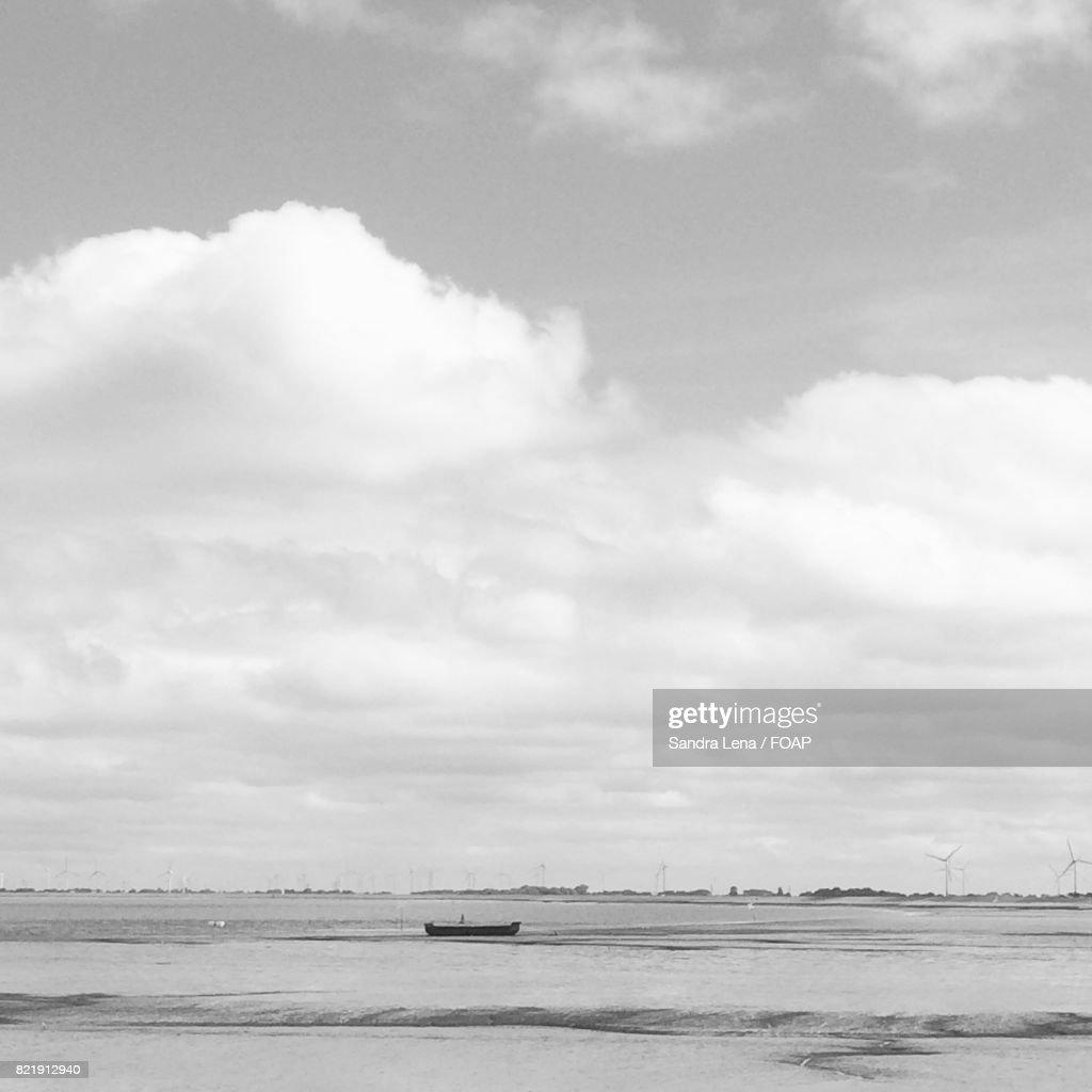 Scenic view of sailboat in sea : Stock Photo