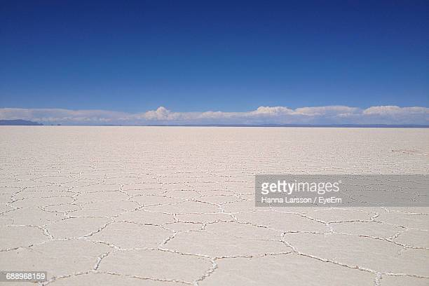 Scenic View Of Salar De Uyuni Against Clear Sky