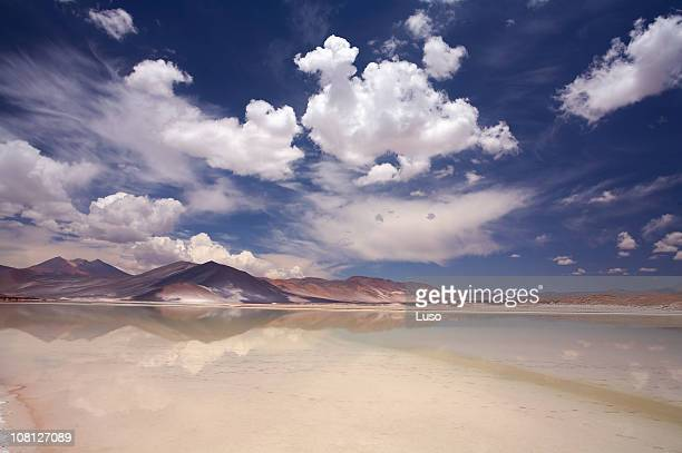 Scenic view of Salt Lake Salar de Altiplano, Atacama, Chile