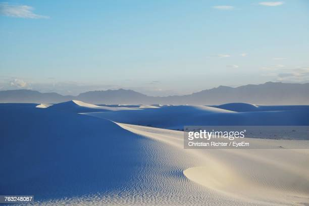 "scenic view of sand dunes - ""christian richter"" stock pictures, royalty-free photos & images"