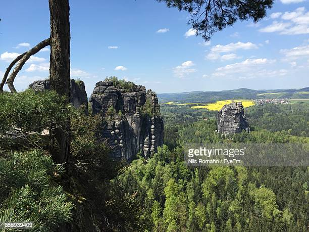 Scenic View Of Saxon Switzerland Against Sky