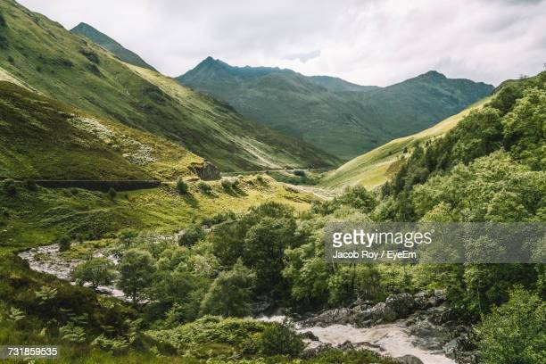 Scenic View Of Scottish Highlands Against Sky