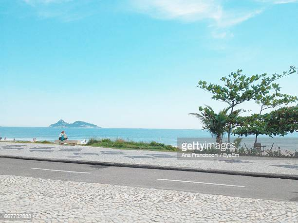 Scenic View Of Sea Against Blue Sky In Brazil