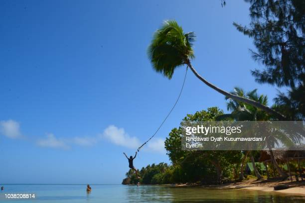 scenic view of sea against blue sky - nuku'alofa stock pictures, royalty-free photos & images