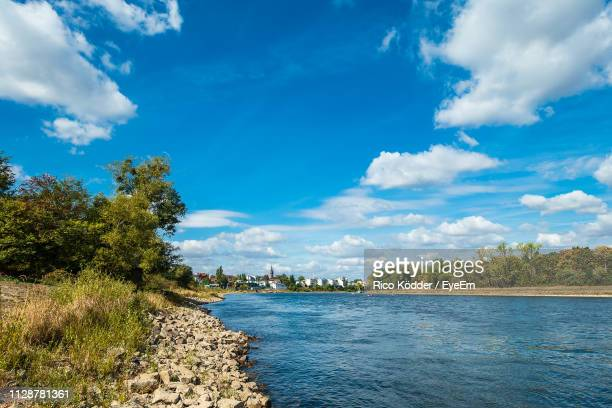 scenic view of sea against blue sky - saxony anhalt stock pictures, royalty-free photos & images